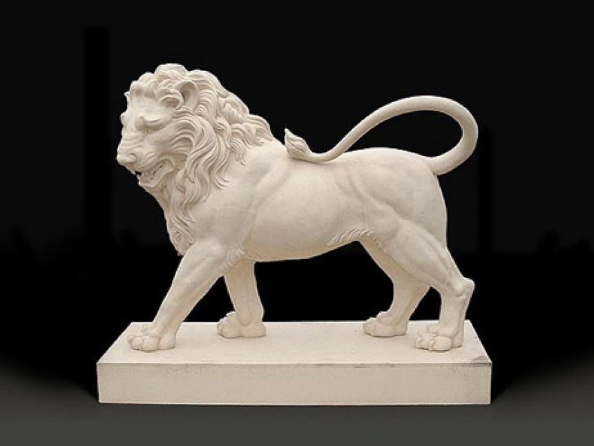 Statant Lion Pair